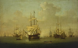 The 'Queen Charlotte' at the Review at Spithead, 1790