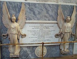William Bingham - Memorial to Bingham in Bath Abbey