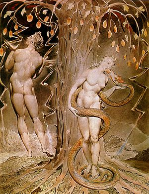 William Blake, The Temptation and Fall of Eve,...