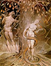 The Temptation and Fall of Eve by William Blake.