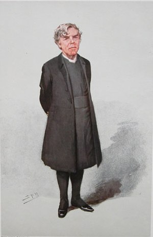 "William Boyd Carpenter - ""A man Right Reverend and Well-Beloved"" Bishop Boyd Carpenter as caricatured by Spy (Leslie Ward) in Vanity Fair, March 1906"
