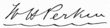 signature de William Henry Perkin