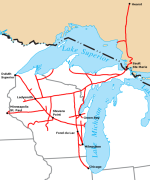 Niagara Escarpment Wisconsin Map.Wisconsin Central Ltd Wikivisually