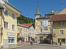 Wolfratshausen, straatzicht Berggasse-Obermarkt 2012-08-17 11.35.jpg
