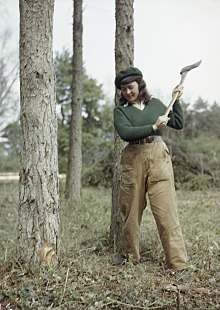 Women's Timber Corps Training Camp at Culford, Suffolk TR911.jpg