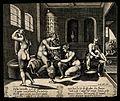 Women bathing in a public bath. Engraving. Wellcome V0020013.jpg