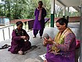 Women spinning wool, Dobhi, Kullu district.jpg