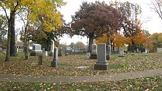 Woodlawn Cemetery (Carbondale, Illinois) - Image: Woodlawn Cemetery in Carbondale