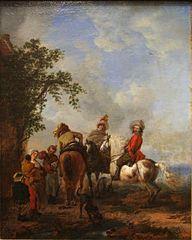Riders Halting at an Inn