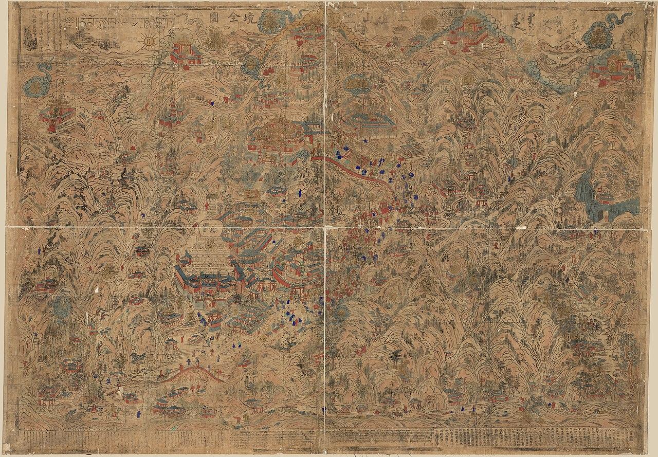 Qing-era map of Mount Wutai