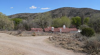 National Register of Historic Places listings in Lincoln County, New Mexico - Image: Wyeth Hurd house from S 1 long