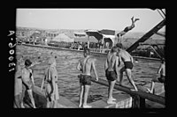 Y.M.C.A. celebration at Beit Nabala on May 21, '44. Diving LOC matpc.21830.jpg