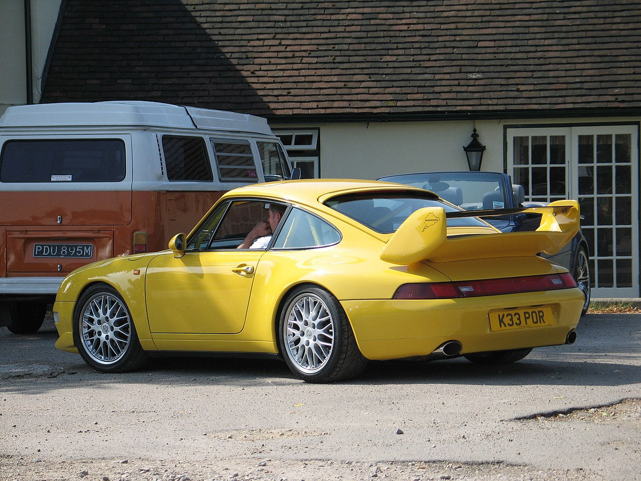 file yellow porsche 911 carrera rs type 993 clubsport rear jpg wikimedia commons. Black Bedroom Furniture Sets. Home Design Ideas