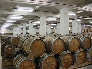 Yerevan Brandy Company - One of factory's oak barrel depositories