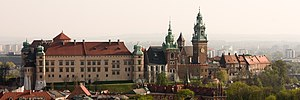Poland - Wawel Castle in Kraków, seat of Polish kings from 1038 until the capital was moved to Warsaw in 1596. The royal residence is an example of early Renaissance architecture in Poland.
