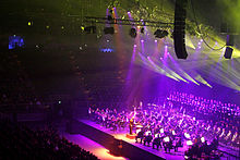 Fresnel Lanterns In Use At A Classical Concert They Can Be Seen Silhouetted Against The Stage And Each Sports Barn Door