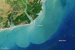 Geography of Mozambique - Image: Zambezi River Delta