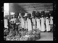 Zanzibar. In the fruit market. Bananas and pineapples, etc. LOC matpc.17671.jpg