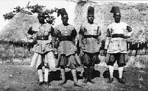 Zaptié - Group of Zaptié in Italian Somaliland (1939).