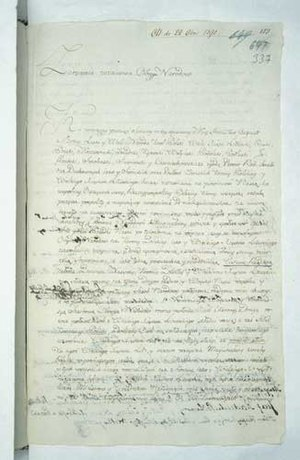 Reciprocal Guarantee of Two Nations - Original manuscript of the Mutual Pledge of the Two Nations