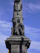 Zaragoza - Plaza de Aragón - Estatua al Justicia.JPG
