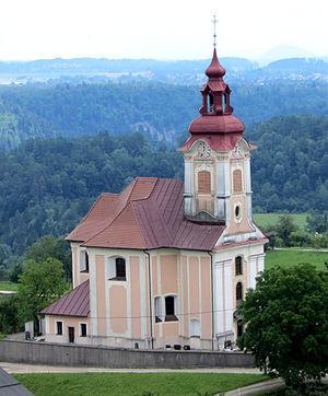 Zasip - Image: Zasip Slovenia St John Church
