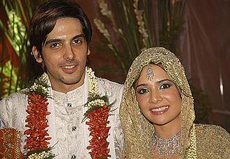 Zayed Khan - Zayed Khan and Malaika Parekh at their wedding on 20 November 2005.