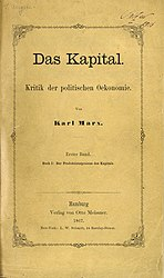 Title page of the first edition Das Kapital