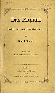 <i>Das Kapital</i> Book by Karl Marx