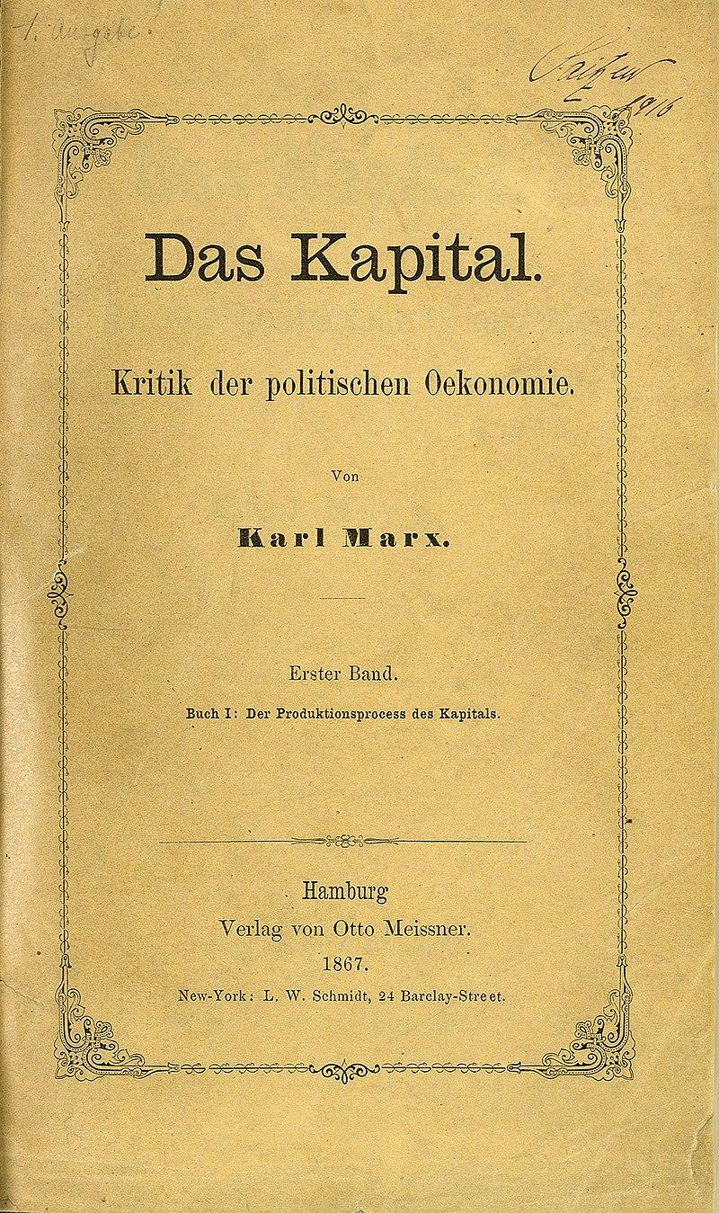 Zentralbibliothek Zürich Das Kapital Marx 1867.jpg