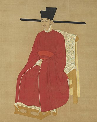 Emperor Zhezong - Palace portrait on a hanging scroll, kept in the National Palace Museum, Taipei, Taiwan