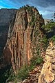 Zion Nat'l Park - first look at the final pinnacle at the top of the Angel's Landing trail - (19488385174).jpg