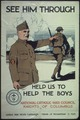 """See him Through. Help Us To Help The Boys. National Catholic War Council Knights of Columbus. United War Work... - NARA - 512603.tif"