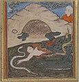 """The Tortoise"", Folio from an `Aja'ib al-Makhluqat (Wonders of Creation) of Qazwini MET sf45-174-17r.jpg"