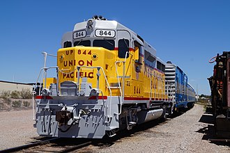 Nevada Southern Railroad Museum - Union Pacific EMD GP30 No. 844, the primary road power of the heritage railroad