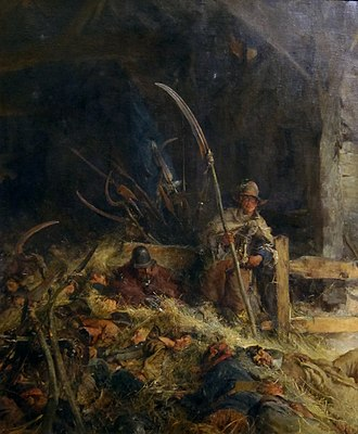 Monmouth Rebellion - Image: 'The Morning of Sedgemoor' by Edgar Bundy, Tate Britain