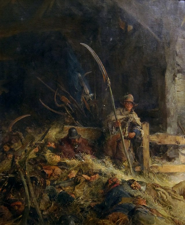 The Morning of Sedgemoor, oil painting on canvas by Edgar Bundy, 1905, Tate Britain, from Wikipedia