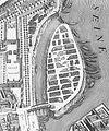Île Louviers sur le plan de Turgot (1734–1736) (détail).jpg