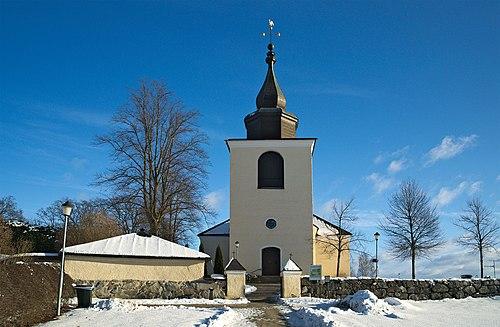 stra Ryds kyrka & kyrkogrd in Akersberga, Stockholms ln