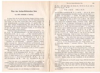 Otto Schreier - Start pages of a 1928 article of Schreier on the Jordan–Hölder theorem