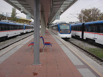 İZBAN - Image: İZBAN trains at Alsancak Station