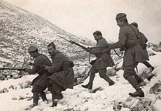 5/42 Evzone Regiment - Evzones on the Albanian front, winter of 1940/41