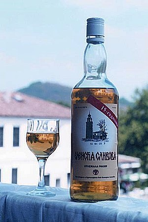 Rakia - Plum rakia from the region of Elena, Bulgaria