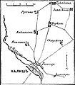 Карта к статье «Калиш». Военная энциклопедия Сытина (Санкт-Петербург, 1911-1915).jpg