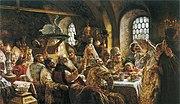К Е Маковский Боярский свадебный пир в xvii веке 1883