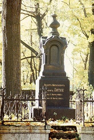 Smolensky Cemetery - Image: Могила Литке Ф.Н