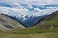Перевал между плато Ештыкёль и долиной Шавлы (2500 м.), вид на Северо-Чуйский хребет.jpg