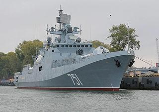 Russian frigate <i>Admiral Essen</i> Russian Admiral Grigorovich-class frigate