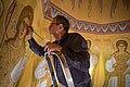 Художник Юрий Африн во время росписи собора Спаса Преображения.jpg