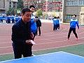 雁塔 陕师大附中分校在打乒乓球 04.jpg